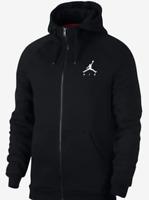 Nike Air Jordan Mens Jumpman Fleece Full Zip Hoodie 939998-010 Size XL