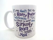 IF YOU NO Consigue My Harry Potter referencias Taza de cerámica, blanco, 313ml