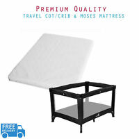 Baby Travel Cot Mattress Crib & Moses Basket Foam Mattress Extra Breathable
