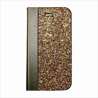 Rose Pink Gold Made with Swarovski Crystal Bling Luxury Wallet Case iPhone 7/8 +