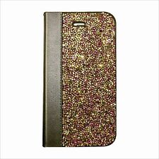 Rose Gold Rock Made with Swarovski Crystal Bling Shiny Wallet Case Skin iPhone 7