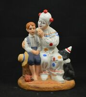 NORMAN ROCKWELL FIGURINE BOY AND CLOWN CIRCUS MINT