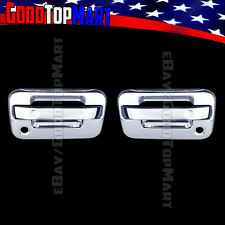 For Ford F150 2004-2014 Chrome 2 Door Handle Covers WITH P Keyhole W/O Keypad