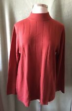 Women's Roaman's Plus 100% Acrylic Rusty Red Sweater New $54.99 L XL Soft