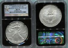 2008-W  burnished  ANNUAL DOLLAR SET  SILVER EAGLE - NGC MS70 - WEST POINT LABEL