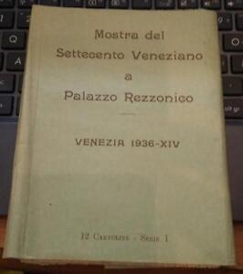 mostra del settecento veneziano a palazzo rezzonico-12 cartoline-serie I 1936