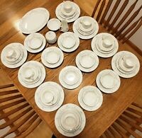 NEW 58 pc Mikasa Compton serving set for 8, dinner/salad/bread plates, platter