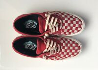 VANS Men's Red And White Comfycush Era L Sneakears Suede Shoes SIZE US11.5
