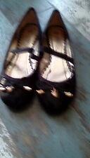 gGirls spot on black ballet shoes size 13