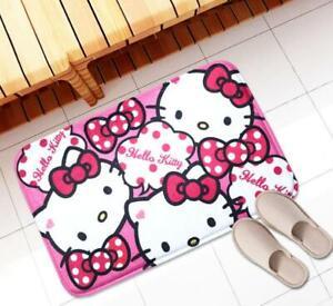 Super Cute Home Hello Kitty Doormat Bathroom Kitchen Mat Rug Pad Carpet