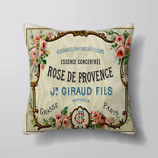 vintage perfume label - Printed Cushion Covers Pillow Cases Home Decor or Inner