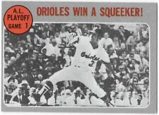 """1970 Topps  #199    """"ORIOLES WIN A SQUEEKER""""    BALTIMORE ORIOLES     EX to EX+"""