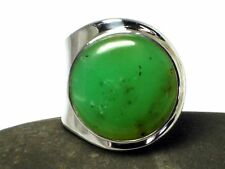 Adjustable   CHRYSOPRASE   Sterling  Silver  925  Gemstone  RING  -  Gift  Boxed