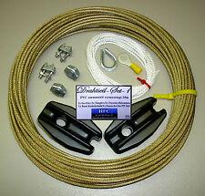 25 m Antennendraht-Set G - 3 mm - vermessingt in PVC (H1060)