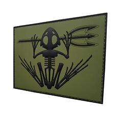 bone frog skull skeleton PVC 3D olive drab green badge tag patch VELCRO® brand