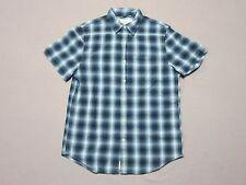 Ralph Lauren Denim & Supply Mens Blue Plaid S/S Button Up Shirt Size Medium New