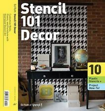 Stencil 101 Decor: Customize Walls, Floors, and Furniture with Oversized Stencil