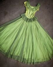 Vintage 1940's Sheer Green Party Dress
