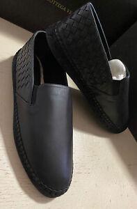 New $690 Bottega Veneta Men Leather Espadrille Shoes Black 9 US ( 42 Eu )