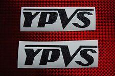 2 X Pegatina de Yamaha YPVS Negro Metal Flake RD LC TZR TDR
