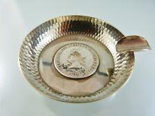1907 BRASIL SILVER COIN BOTTOM CIGARETTE or CIGAR PERSONAL ASH TRAY aa