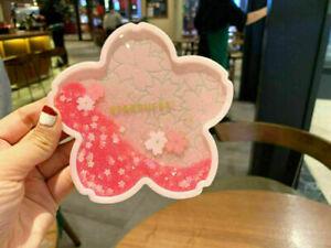 Starbucks Romantic Pink Sakura Quicksand HOT Water Heat Pad Coaster Coffee Gift
