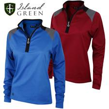 Island Green 2018 Ladies Shoulder Panel 1/2 Zip Thermal Golf Midlayer / Pullover