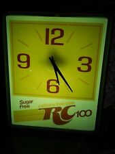 Royal Crown - RC 100 ~Lighted Wall Clock~ [Dualite] '80s Ltd Soda Campaign Promo