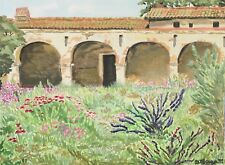 Watercolor Painting Mission San Juan Capistrano Unframed Art