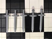 Lego Minifigura Plana Plata Gran Espada Arma de X5/El Señor De Los Anillos/Caballeros