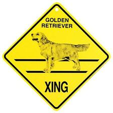 Golden Retriever Dog Crossing Xing Sign New Made in USA