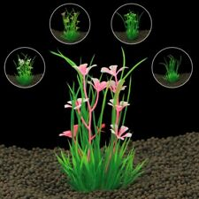 Design Artificial Plastic Aquarium Plants Grass Background Fish Tank Decoration