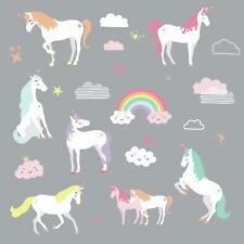UNICORN MAGIC 23 WALL DECALS Unicorns Rainbow Room Decor Stickers Nursery Decor