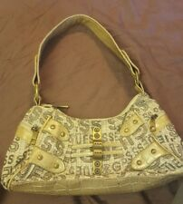 GUC GUESS Satchel Sling Handbag Purse~Canvas & Leather strap-LOW WORLD SHIPPING!
