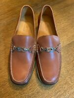 COLE HAAN D17462 Women's Chestnut Leather Slip On Loafers, Size 8B, Ex. Cond.