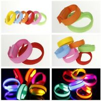 GLOW LIGHT-UP BATTERY LED ARMBAND ankle Flash Light Night Safety Running Cycling