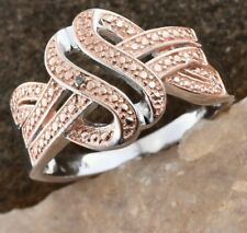Champagne Diamond Accent Ring - ION Plated 18k YG/Platinum Bond Brass - Size 6