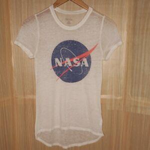Zoe + Liv High Low Nasa Burnout T-shirt Small