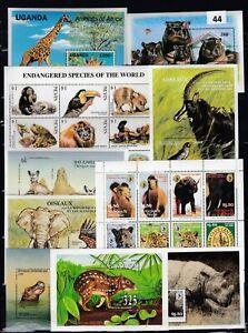 OA 10S/S  - MNH  - ANIMALS - ELEPHANTS - HIPPO - MONKEY - GIRAFFE - WILD NATURE