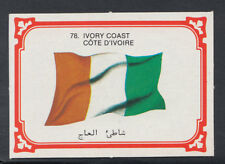Monty Gum 1980 Flags Cards - Card No 78 - Ivory Coast  (T648)