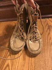 Sperry Gold Leather Boots Women's Size 7