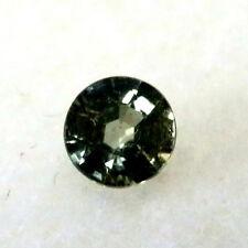 Natural earth-mined green/yellow sapphire round gem ...0.35 carat gem