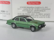 Raras: Wiking series modelo Opel Ascona B verde metalizado en OVP
