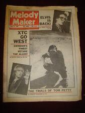 MELODY MAKER 1980 MAR 8 XTC ELVIS COSTELLO TOM PETTY THIN LIZZY RAINBOW SABBATH