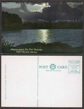 Old Postcard - Cle-Elum, Washington - Moonlight on the Yakima