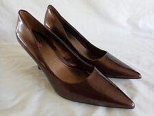 "Connie Classic Pumps Size 9.5 M Brown Penelope 3.5"" High Heel"