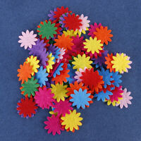 New Flower Star DIY Clothing Fabric Patch Felt Pads Mixed Colors Round Heart-