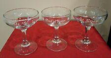 Vintage Bride, Groom, & Maid of Honor Lettered Wedding Toast Champagne Glasses