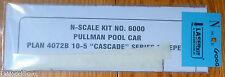 American Model Builders #6000 Pullman Pool Car -- Cascade Series 10-5 4072B w/o