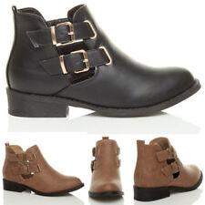 Botas de mujer botines de tacón bajo (menos de 2,5 cm) de piel sintética